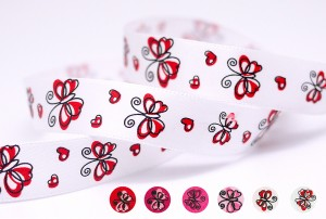 Butterfly & Heart Ribbon - Butterfly & Heart Ribbon