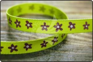 小さな花の印刷リボン - 小花印刷リボン(PR3196)