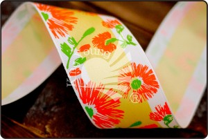 Flower Print Ribbon - Flower Print Ribbon (PR3595)