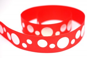 Iridescent Dots Print Ribbon - Iridescent Dots Print Ribbon