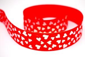 Iridescent Hearts Print Ribbon - Iridescent Hearts Print Ribbon
