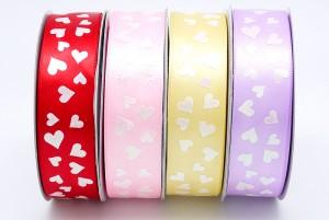 All Hearts Print Ribbon