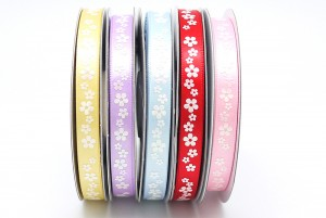 "3/8"" All Flowers Print Ribbon - 3/8"" All Flowers Print Ribbon"
