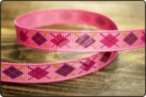 Argyle Print Grosgrain Ribbon