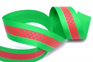 Stripe grosgrain Ribbon in dots