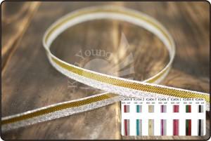 Side Stripe Metallic Ribbon - Side Stripe Metallic Ribbon