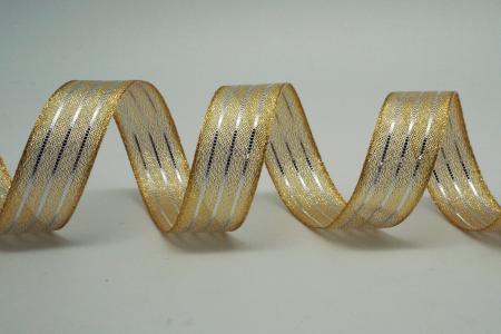 Three-Stripe Metallic Ribbon