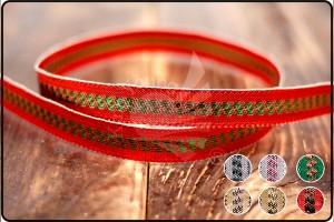 Center Stripe Narrow Metallic Ribbon - Center Stripe Narrow Metallic Ribbon