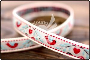 Heart, Bird & Flower Jacquard Ribbon - Heart, Bird & Flower Jacquard Ribbon