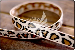 Leopard Jacquard Ribbon