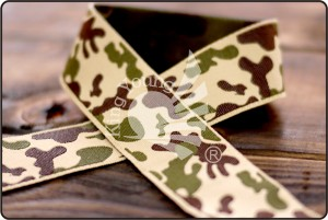 Camouflage Jacquard Ribbon