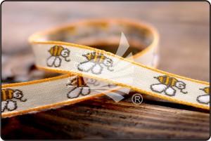 Bees Jacquard Ribbon