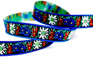 Flower/folk Style Jacquard Ribbon - Flower/folk Style Jacquard Ribbon