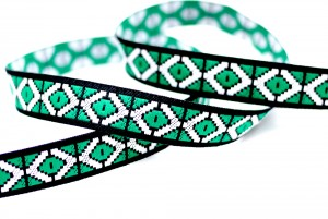 Geometric Jacquard Ribbon - Geometric Jacquard Ribbon