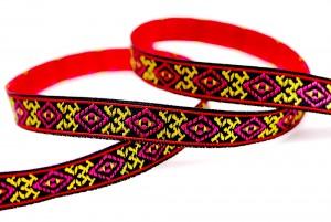 Totem/Folk Jacquard Ribbon - Totem/Folk Jacquard Ribbon