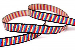 Tri-colored Jacquard Ribbon - Tri-colored Jacquard Ribbon