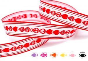 Hearts Jacquard Ribbon - Hearts Jacquard Ribbon