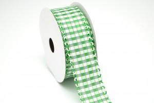 Die-cut Edge Gingham Ribbon - Die-cut Edge Gingham Ribbon