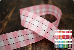 Checkered & Stitched Ribbon
