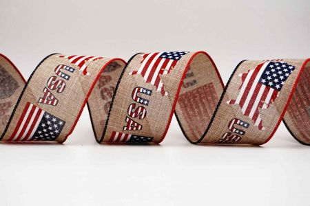American Map & Flag Ribbon - American Map & Flag Ribbon