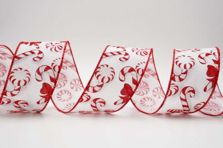 Bow-tied Candy Canes Ribbon