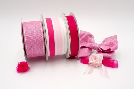 Dazzling Pink Ribbon Set