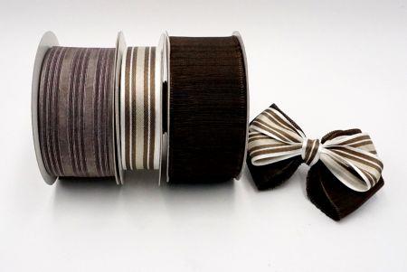 Brown Tone Woven Ribbon Set