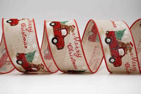 Christmas Dog Truck Ribbon - Christmas Dog Truck Ribbon