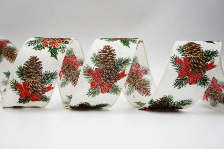 Christmas Pines & Cones Ribbon - Christmas Pines & Cones Ribbon