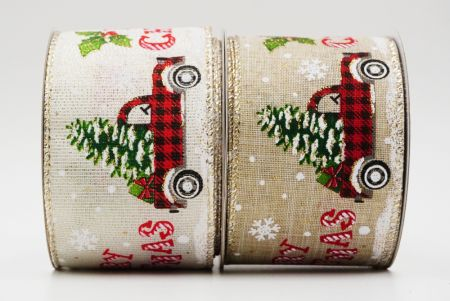 Plaid Truck w/Xmas Tree & Gift - Plaid Trucks with Christmas Tree and Gift