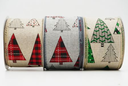 Patterned Christmas Tree Ribbon - Patterned Christmas Tree Ribbon