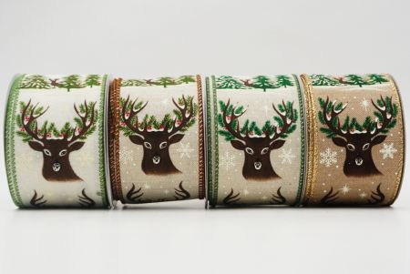 Deer Head, Antlers & Forest Ribbon - Deer Head, Antlers & Forest Ribbon