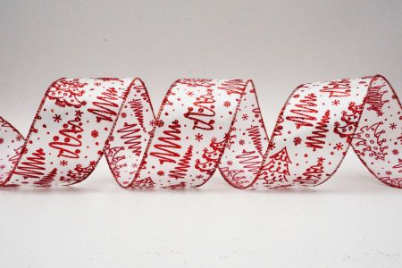 Christmas Tree Drawing Ribbon - Christmas Tree Drawing Ribbon