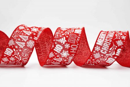 Christmas Wording Ribbon - Christmas Words Ribbon