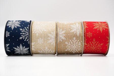 Snowflake Pattern Wired Ribbon