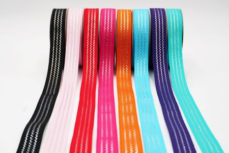 Wavy Lines Woven Ribbon