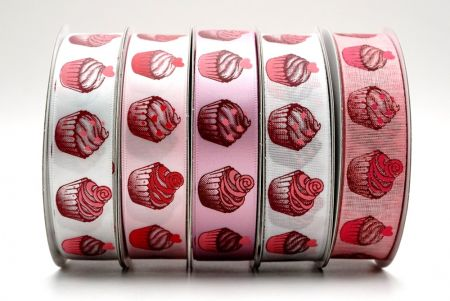 Pop Art Cup Cakes design Ribbon