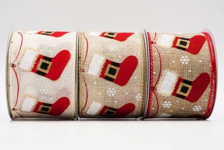 Christmas stocking Wired Ribbon - Christmas stocking Wired Ribbon