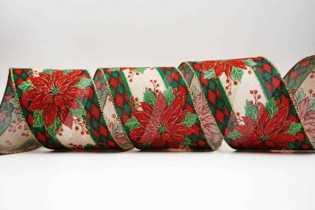 Elegant Poinsettia Ribbon - Elegant Poinsettia Ribbon