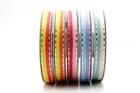 Fancy Silver Side Stitching Ribbon