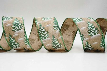 Flocked Christmas Tree Ribbon - Flocked Christmas Tree Ribbon
