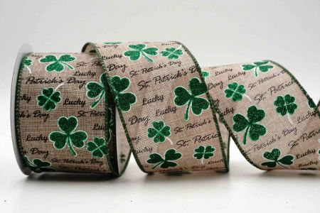 Glittery Clovers Ribbon - Glittery Clovers Ribbon