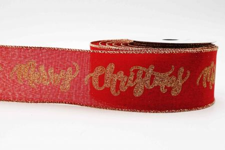 Glittery Merry Christmas Ribbon - Glittery Merry Christmas Ribbon
