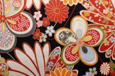 Hakka Daisy Combed Cotton Fabric - Hakka Floral Combed Cotton Fabric