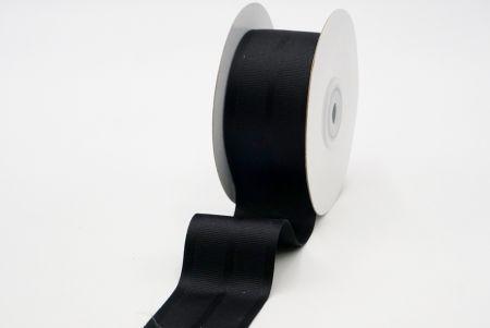 black grosgrain woven ribbon