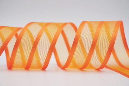 orange gorsgrain satin ribbon