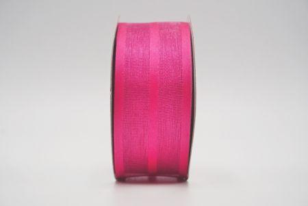 hot pink grosgrain woven ribbon