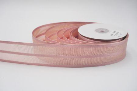 morandi dark pink woven ribbon