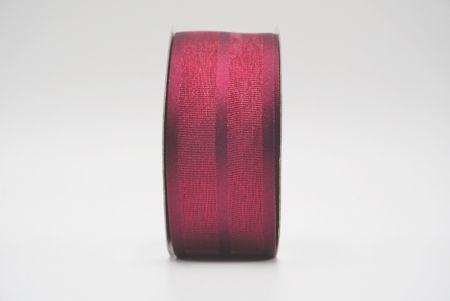 burgundy grosgrain woven ribbon