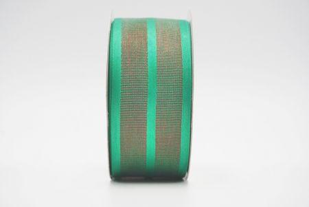 green/dark gorsgrain woven ribbon